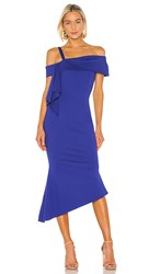 Elliatt Platform Dress In Blue. Cobalt