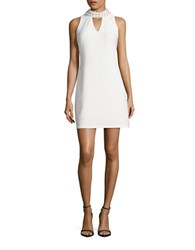 Taylor Beaded Shift Dress Ivory
