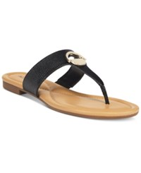 Alfani Women's Holliss Flat Thong Sandals Only At Macy's Women's Shoes Black
