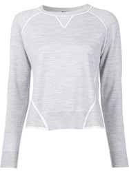 Adam By Adam Lippes Contrast Detail Jumper Grey