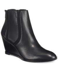 Alfani Women's Calistah Wedge Ankle Booties Only At Macy's Women's Shoes Black Leather