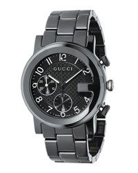 Gucci G Chrono Ceramic Watch Black