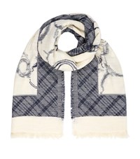 Max Mara Weekend Multi Pattern Cotton Scarf Female