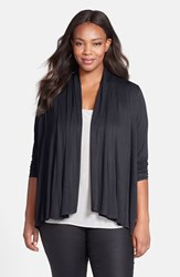 Plus Size Women's Ellen Tracy Drape Front Cardigan