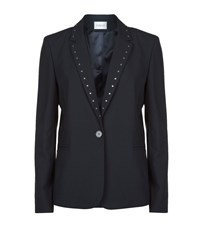 Claudie Pierlot Vacances Studded Blazer Female Blue