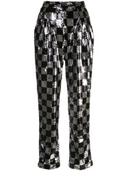 Rodarte Silk Checkered Trousers 60