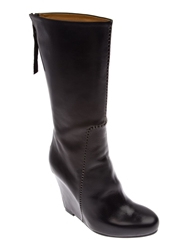 Premiata Mid Calf Wedge Boot Black