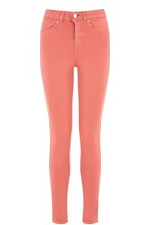 Oasis Rose Coloured Lily Skinny Jeans Coral