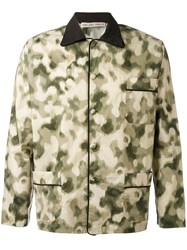 Emiliano Rinaldi Camouflage Pyjama Shirt Men Cotton Polyurethane 48 Green