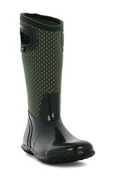Bogs Women's 'North Hampton' Waterproof Rain Boot Dark Green Multi