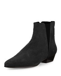 Isabel Marant Patsha Suede Stretch Ankle Bootie Black
