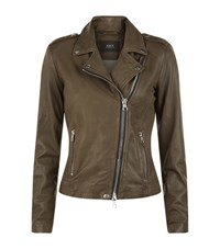 Set Leather Jacket Female Green