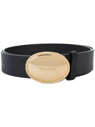 Dsquared2 Round Buckle Belt Leather Black