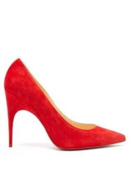 Christian Louboutin Alminette 100 Suede Pumps Red