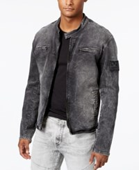 True Religion Men's Denim Moto Jacket Black