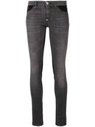 Philipp Plein Double Denim Jeans Grey