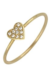 Bony Levy 18K Gold Heart Diamond Pave Ring 0.04 Ctw 18K Yellow Gold