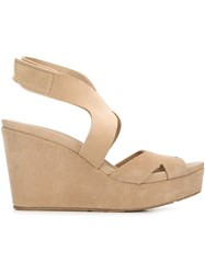 Pedro Garcia Wedge Sandals Nude And Neutrals