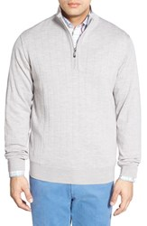Men's Bobby Jones Windproof Merino Wool Quarter Zip Sweater