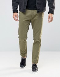Replay Tapered Chinos Washed Khaki Washed Khaki Green