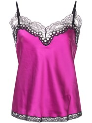 Alexander Wang Lace Spaghetti Strap Top Pink And Purple