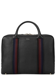 Paul Smith City Webbing Black Leather Briefcase