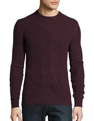 Black Brown Cable Knit Cashmere Sweater Faded Brick