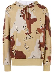 Christopher Raeburn Jersey Choc Chip Print Sweater Brown