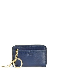 Tusk Madison Leather Zip Card Case Navy