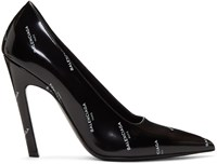Balenciaga Black All Over Logo Slash Heels