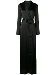 La Perla Reward Long Robe Black