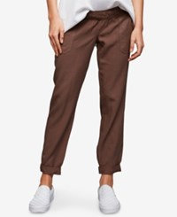 A Pea In The Pod Maternity Canvas Jogger Pants Mushroom Brown