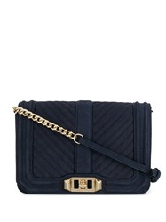 Rebecca Minkoff Quilted Love Crossbody Bag Blue
