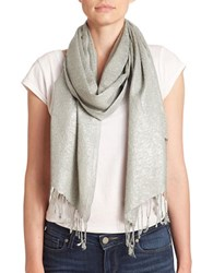 Collection 18 Metallic Swirl Scarf Silver