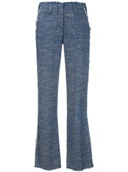 Dondup High Waisted Pants Blue