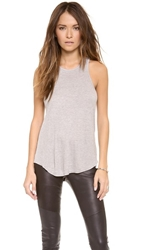 David Lerner Racer Back Tank Grey