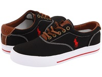 Polo Ralph Lauren Vaughn Canvas Leather Black Men's Lace Up Casual Shoes