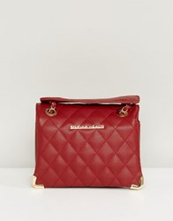 Silvian Heach Quilted Shoulder Bag Red