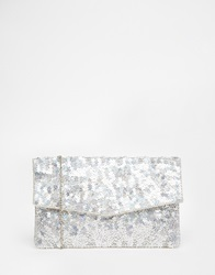 New Look Exc Flower Sequin Clutch Multi