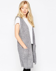 Brave Soul Sleeveless Faux Fur Gilet Grey