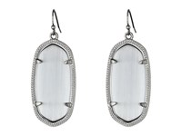 Kendra Scott Elle Earring Rhodium Slate Cats Eye Earring Silver