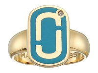 Marc Jacobs Icon Enamel Ring Bright Teal Ring Blue