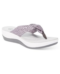 Clarks Collections Women's Arla Gilson Flip Flops Women's Shoes Smoked Pearl Print