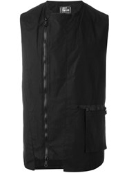 Lost And Found Sleeveless Zipped Gilet Black
