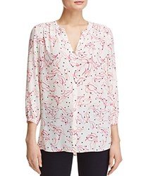 Nydj Button Front Blouse Stella Toss Floral