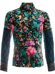 Pierre Louis Mascia Floral Pattern Shirt Black