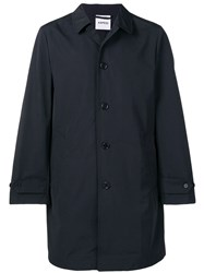 Aspesi Button Up Trench Coat Blue