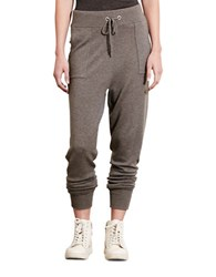 Lauren Ralph Lauren Blended Wool Skinny Jogger Pants Concrete Heather