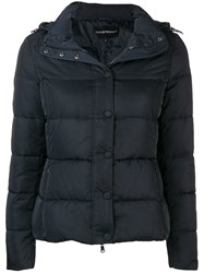Emporio Armani Padded Puffer Jacket Blue
