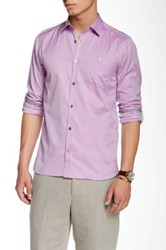 Ted Baker Champp Long Sleeve Extra Trim Fit Shirt Purple